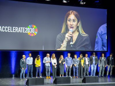 Accelerate 2030 on stage of Factory17